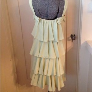 Dresses & Skirts - Vintage 1960s Lime Green Mini Cocktail Dress